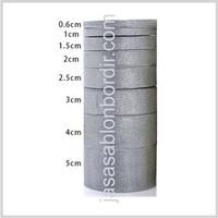 Pita Glitter Emas Perak 1.5 inch atau 4 cm