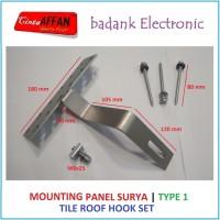 [Type 1] Mounting Bracket Solar Panel Surya - Tile Roof Hook Set