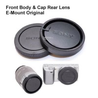 Tutup depan belakang Lensa Body kamera Cap Rear Lens Sony Nex e mount