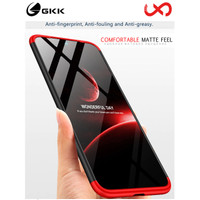 GKK Case Redmi Note 8 / Note 8 Pro - 360 Full Protection [Original] - Red Black, Note 8