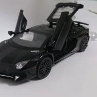 Diecast Lamborghini Aventador rare mobil-mobilan 1:32 - Hitam