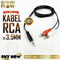 Kabel Audio RCA to 3.5mm Male to Male Jack 3.5 mm HiFi Stereo 1 Meter