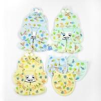topi bayi set slabber kaos tangan kaki