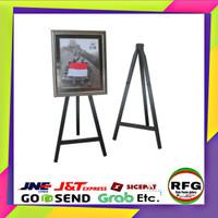 Stand frame kayu (50 x 100) standing foto Bingkai