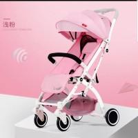 Stroller lipat bayi import merk LSUN cabin size model tarik koper