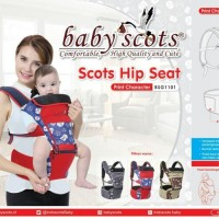 Gendongan Bayi Hip Seat Baby Scots print Character