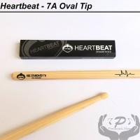 Stick stik Drum Heartbeat 7A Hickory Oval Tip