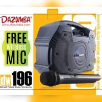 Speaker Dazumba dw196 bluetooth karaoke 2 mic