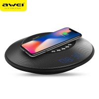 Awei 2 in 1 Speaker Bluetooth Qi Wireless Charger Dock - Y290 - Black