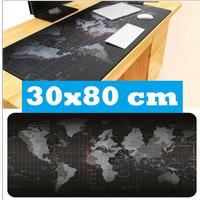 Mousepad Professional Gaming Mouse Pad XL 30 x 80 cm Atlas Peta Dunia