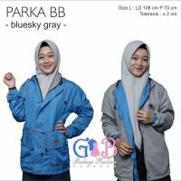 JAKET BB PARKA WANITA / BOLAK BALIK SEMI PARKA PREMIUM / TURKISH GRAY