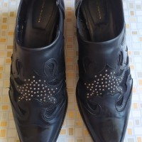 sepatu pantovel kulit asli,second ,merk zarra (ori)