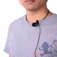 Clip On 3.5 mm Microphone Youtuber With Clip ON Mic 2 garis Vlogger