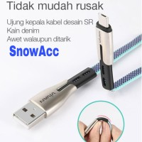 Vivan USB Kabel Data Android Micro Usb 2.4A Fast Charging 100cm BTK-M