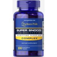 Puritans Pride Super Snooze w/ Melatonin 100s I Untuk Tidur Nyenyak