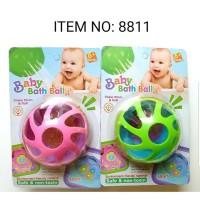 Baby bath ball rattle / mnainan bola untuk bayi