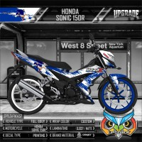 decal sticker honda sonic 150r blue sonic splash