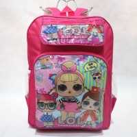 Tas Ransel Sekolah Anak Cewek Perempuan Motif Cartoon LOL Pink Lucu