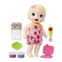 Mainan Boneka Baby Alive Super Snacks Snackin Lily Blonde Doll C2697