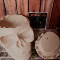 Asbak Tengkorak Container Skull Ashtray Satanic Illuminati + Sticker