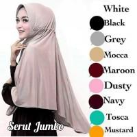 Jilbab Serut JUMBO Polos Jokowi Talita Jersey Hijab Instan Syari