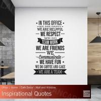 Sticker Dinding Office Motivasi Quotes Stiker Cutting Kaca Kantor