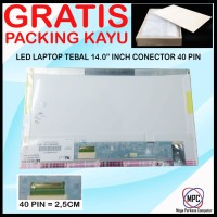 LCD LED Laptop 14.0 14 Inch Tebal Conector 40 Pin
