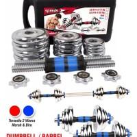 Dumbel Barbel Set Max 15kg Tiang Angkat Beban Besi 15 Kg LX 014-3 Box