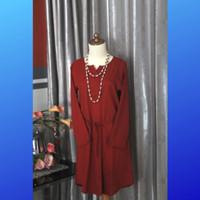 Atasan Wanita Blouse Baju Merah Tangan Panjang Preloved