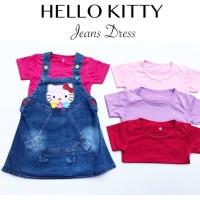 HELLO KITTY JEANS DRESS dress anak dress bayi jumper anak