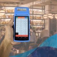 Portable Android POS Thermal Bluetooth Printer warna Biru