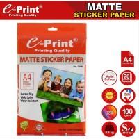 Eprint Sticker Matte Paper / Kertas Sticker Matte / Doff A4 100gsm