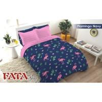 Bed Cover Single FATA Flamingo Navy