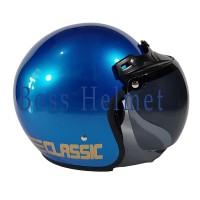 Helm Motor SNI Bogo List Pepsi blue doff + kaca ava original Bukan JPN