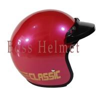 Helm Motor SNI Bogo List Pink rose + pet (tanpa kaca)