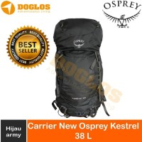 New Osprey Kestrel 38 backpack Outdoor Day Hiking Tas gunung Green