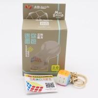 Rubik 3x3 YongJun Pillow Keychain 2.0mm 3x3 Stickerless Original