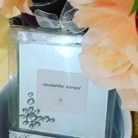 (HM) Souvenir Tatakan Gelas Glass+Frame,cocok u/gift wedding ultah,dll