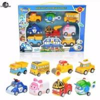 Hot Toys Mainan Robocar Poli P5 Set isi 8 dus - Mainan Anak Robocar