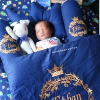 bedset bayi unik custom bordir nama Bantal bayi selimut bayi