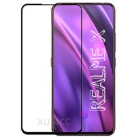 TEMPERED GLASS OPPO REALME X 2019 WARNA FULL SCREEN COVER REALME X - Hitam