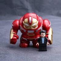 Lego Anti Hulk Hulkbuster Iron Man Ironman Bigfigure Free Bruce Banner