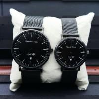 Jam Tangan Couple Alexandre Christie 8566 Original PAKET - Full Black