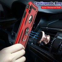 Ready Luxury Car Magnetic Ring Case On The For iphone 7 8 6 6s PLus