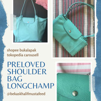 Tas Shoulder Bag Wanita Original Longchamp Preloved Second Bekas