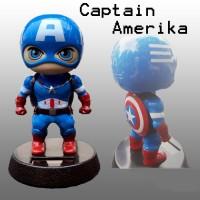Boneka Dashboard Mobil Avengers Captain Amerika Kepala Goyang