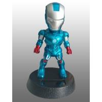 Boneka Dashboard Mobil Avengers Iron Man Blue Kepala Goyang