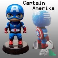 Boneka Dashboard Mobil Kepala Goyng Figure Avengers Captain Amerika
