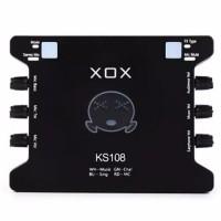 Asli XOX KS108 Sound Card Exteral Karaoke Recording