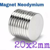 Magnet Neodymium 20x2 mm Super Kuat Rarely magnet
